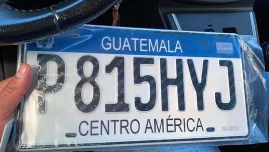 SAT Guatemala hará actualización de placas de metal en cuatro regiones del país, agosto 2021
