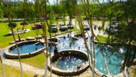 Baños Termales Santa Marta, un lugar turístico con piscinas termales al aire libre en Guatemala