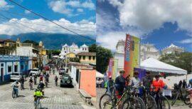 primer recorrido Biciruta 502 Sacatepequez septiembre 2021