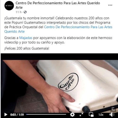video de popurri querido arte guatemala independencia