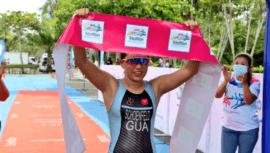 Guatemaltecas conquistaron el podio del Triatlón Bicentenario de Independencia 2021 en Izabal