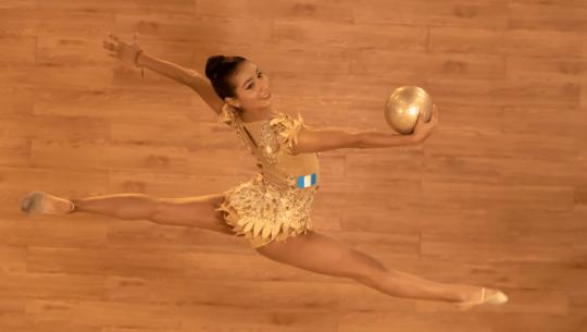 Leslie Porras representará a Guatemala en el Mundial de Gimnasia Rítmica 2021 en Japón