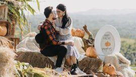 Sesión de fotos con temática de otoño en Granja Orgánica San Miguel, Guatemala   Octubre 2021